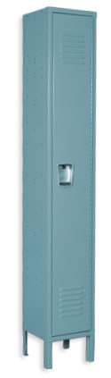 Aqua color locker