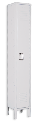 Ashwood-gray color locker