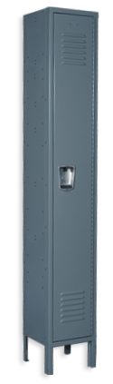 Blue gray color locker