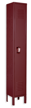 Burgundy color locker