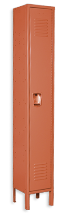 Citrus-orange color locker