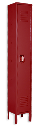 Classsic red color locker