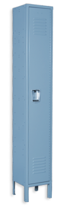 Columbia-blue color locker