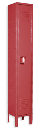Flag red color locker