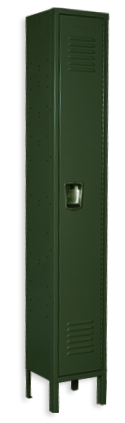 Hunter green color locker