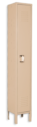 Khaki-tan color locker