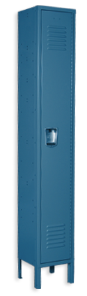 Ocean blue color locker