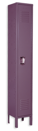 Purple color locker
