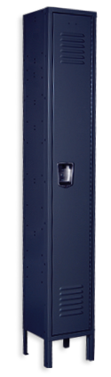 Regal blue color locker