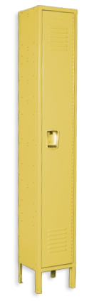 Vibrant-yellow color locker