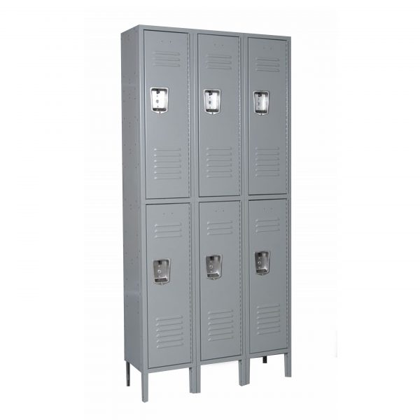Double Tier 3-Wide Locker Unit-437