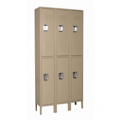 Double Tier 3-Wide Locker Unit-0