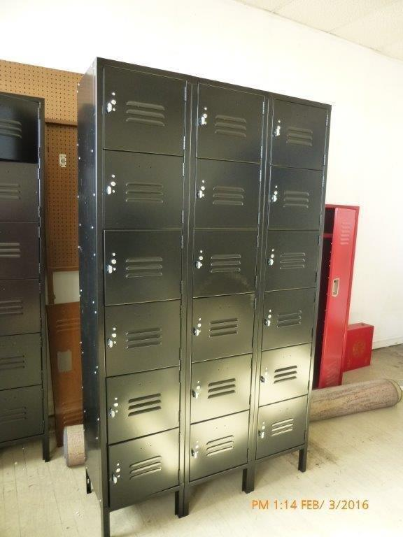 Six Tier 3-Wide Locker Unit - OVER STOCK NEW-723