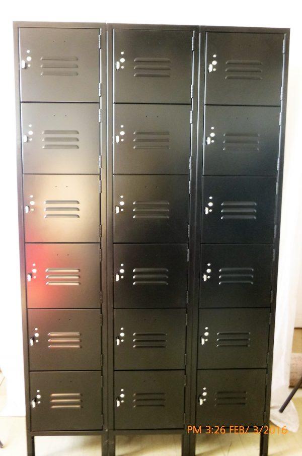 Six Tier 3-Wide Locker Unit - OVER STOCK NEW-0